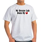 Heart Owning Rescue Lab Ash Grey T-Shirt