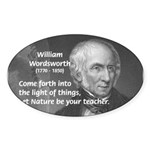 Nature Wordsworth Poetry Oval Sticker