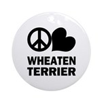 Peace Love Wheaten Terrier Ornament