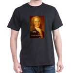 Voltaire French Philosopher Black T-Shirt