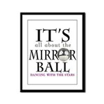 Mirror Ball DWTS Framed Panel Print
