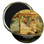 "French Painter Manet Quote 2.25"" Magnet (10 pack)"