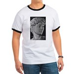 David with Michelangelo Quote Ringer T