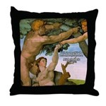 Sistine Chapel Adam & Eve Throw Pillow