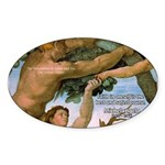 Sistine Chapel Adam & Eve Oval Sticker