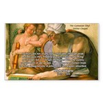 Michelangelo Art Philosophy Rectangle Sticker