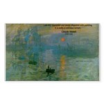 Claude Monet Torture Art Rectangle Sticker