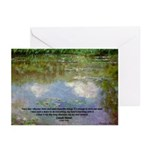 Monet Painting: Beauty Quote Greeting Cards (Packa