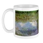Monet Painting: Beauty Quote Mug