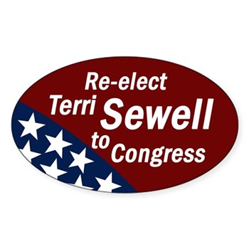 Re-Elect Terri Sewell to Congress oval bumper sticker
