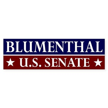 Richard Blumenthal for U.S. Senate bumper sticker