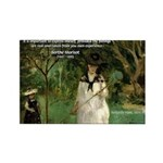 Berthe Morisot Art Quote Rectangle Magnet (100 pac