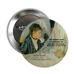 "Female Artist Morisot Quote 2.25"" Button (10 pack)"