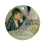 Female Artist Morisot Quote Ornament (Round)