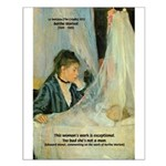 Female Artist Morisot Quote Small Poster
