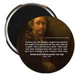 "Renbrandt Self Portrait & Quote 2.25"" Magnet (100"