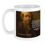 Renbrandt Self Portrait & Quote Mug