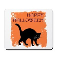 Halloween Black Cat Mousepad