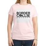 Border Collie Agility Women's Pink T-Shirt