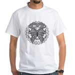 Tattoo Butterfly Diabetes White T-Shirt