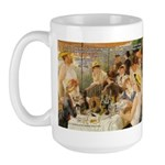 Renoir Quote and Landscape Large Mug