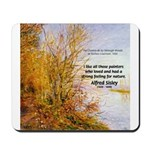 Alfred Sisley Nature Quote Mousepad