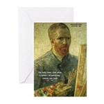 Vincent Van Gogh Quote Greeting Cards (Package of