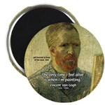 "Vincent Van Gogh Quote 2.25"" Magnet (100 pack)"