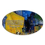 Vincent Van Gogh Color Art Oval Sticker