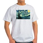 Starry Night Vincent Van Gogh Ash Grey T-Shirt