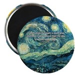 "Starry Night Vincent Van Gogh 2.25"" Magnet (100 pa"