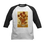 Van Gogh Painting & Quote Kids Baseball Jersey