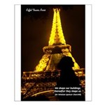 Art Architecture Eiffel Tower Small Poster