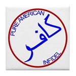 Red White Blue Pure Infidel Tile Coaster
