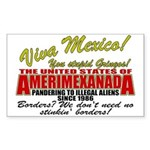 Anti Mexican Illegal Alien Rectangle Sticker