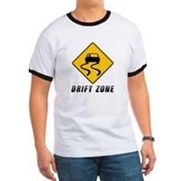 Drift zone caution sign t-shirt