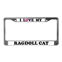 Ragdoll Cat License Plate Frames