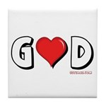God is Love Tile Coaster