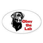 Obey the Lab Oval Sticker