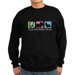 Peace, Love, Norwich Terriers Sweatshirt (dark)