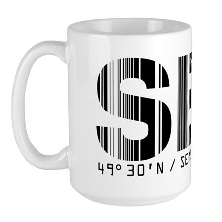 Sembach Airport Code Germany SEX Large Mug