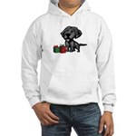 Black Lab Christmas Hooded Sweatshirt