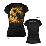 Gold Fire Peeta Jr. T-shirt