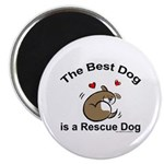 Best Rescue Dog Magnet