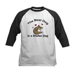Best Shelter Dog Kids Baseball Jersey