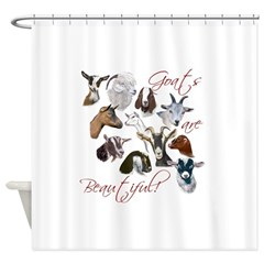 Goats are Beautiful Shower Curtain