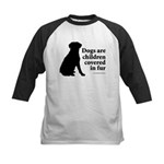 Dog Fur Children Kids Baseball Jersey