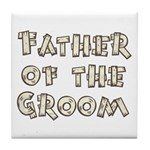 Country Father of the Groom Tile Coaster