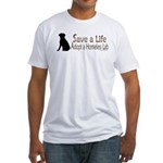 Adopt Homeless Lab Fitted T-Shirt