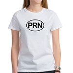 PRN As Needed Medical Oval Women's T-Shirt